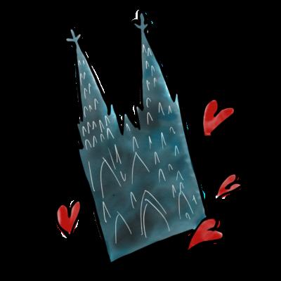 Kölsche Sticker Dom - Die beliebten Kölschen Sticker für das iPhone gibt es jetzt auch als T-Shirt Design!  - Kölsche Sticker,Kölner karneval,Kölner dom,Köln,Cologne