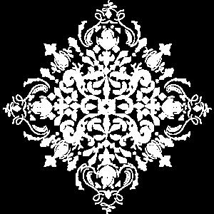 Arabeske Ornament Weiß