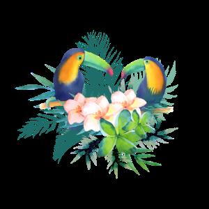 Toucan Tropische Blumen