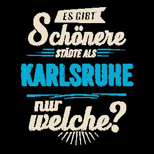 Heimat Stadt - Karlsruhe - blau retro - RAHMENLOS Shirt Geschenk