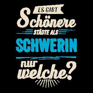 Heimat Stadt - Schwerin - blau retro - RAHMENLOS
