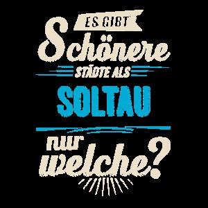 Heimat Stadt - Soltau - blau retro - RAHMENLOS