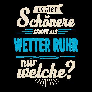 Heimat Stadt - Wetter (Ruhr) - blau retro -