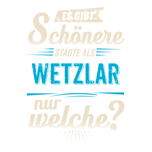 Heimat Stadt - Wetzlar - blau retro - RAHMENLOS