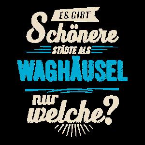 Heimat Stadt - Waghäusel - blau retro - RAHMENLOS
