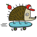 Skater Igel by Cheslo