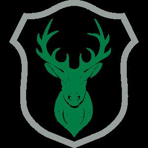 Logo Wappen Hirsch Geweih