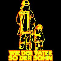 Feuerwehr Vater Sohn Feuer