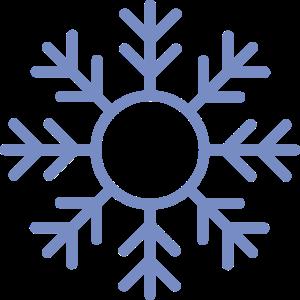 Blaue Schneeflocke Ornament