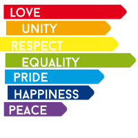 gay Love Unity Respekt Pride happy Regenbogen bunt