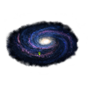 Galaxie - Violett