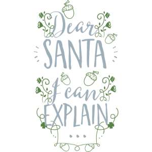Dear Santa, I can explain-Lieber Weihnachtsmann