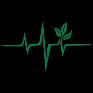 Vegan Puls, Pflanze, Frequenz, Herzschlag, Beat, V