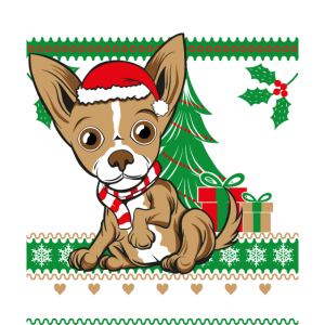 Chihuahua Weichnachten Ugly Sweater