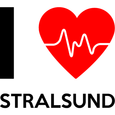 I Love Stralsund - Ich liebe Stralsund - I Love Stralsund - Ich liebe Stralsund - Lieblingsstadt,Tourismus,Stralsund,Stadt,Frequenz,Lieblingsort,Deutschland,Frequenzen,Ort,Herzfrequenz,ich,Identifikation,Lieblingsplatz,Heimatstadt,I,Reisen,liebe,Spruch,Schriftzug,Herzrhythmus,Herz,Störung,Herzrhythmusstörung,love