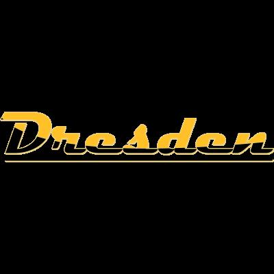 Schriftzug Dresden - Schwarz-Gelber Schriftzug der Stadt Dresden. Vektordatei - schwarz-gelb,elbflorenz,Sachsen,Landeshauptstadt,Dynamo,Dresden