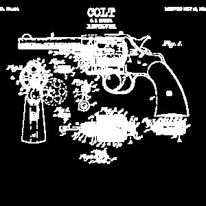 revolver vintage drawing