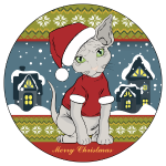 Sphynx Merry Christmass due