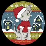 Sphynx Merry Christmass due