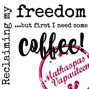 Kahvimuki Matkaopas Vapauteen, pun