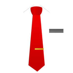 Rote Krawatte Anzug