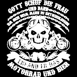 Motorrad Biker Bier Gott Frauen