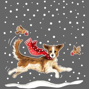 Suza in de sneeuw tas