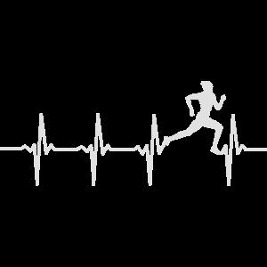 Laufen Läufer Herzschlag EKG Jogger Geschenk