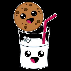 Kawaii Keks und Milch