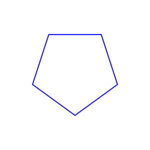 Shifted Polygons Blue
