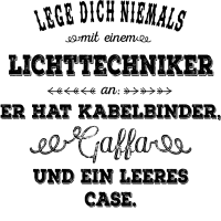 Lichttechniker - schwarz