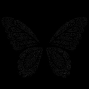 Schmetterling in schwarz, handgezeichnet