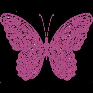 Schmetterling in pink, handgezeichnet