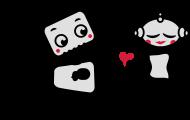 Valentinstag Shirt: Roborter verschenkt sein Herz