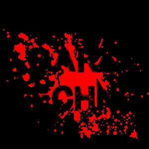 Dark Techno mit Blutspritzer