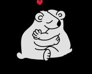 Valentinstag Shirt: zwei Eisbären umarmen sich