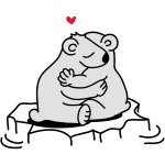 Zwei verliebte Eisbären