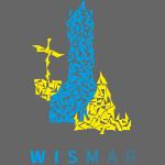 Wismar Dreiecksillustration blaugelb