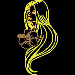 18. Blonde Frau mit Blume