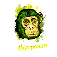 schimpanse affe stadtaffe chimp camouflage chill