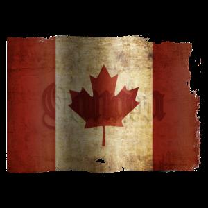 Flagge Kanadas / Grunge..