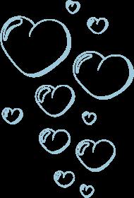 Valentinstag Shirt: bubble_hearts