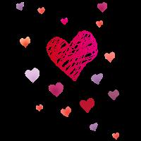 Herzchen herzen Zeichnung Muster viele liebe flieg