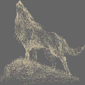 pixel Wolf creme