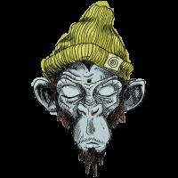 Affe mit Mütze