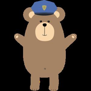 Glücklich Polizist Bär