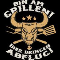 BBQ Bin am Grillen II - Geburtstags Geschenk - RAHMENLOS Shirt Design