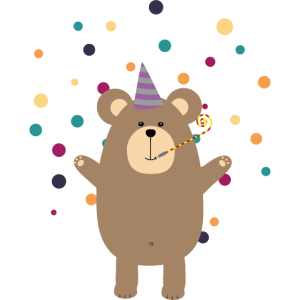 Party Brown bear