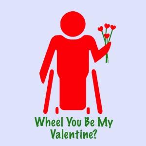 Rolstoel valentijn in het rood 001