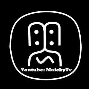 MaickyTv Logo Weiß